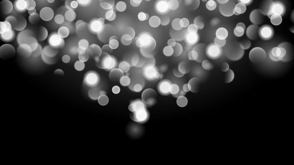 White bokeh effect wit...