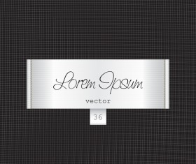 White fabric tag template vector 06