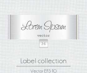 White fabric tag template vector 07