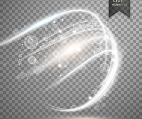 White light effect illustration vector 01