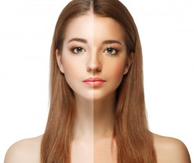Whitening makeup face contrast HD picture