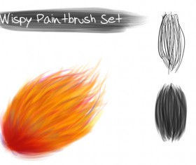 Wispy Paintbrush photoshop brushes