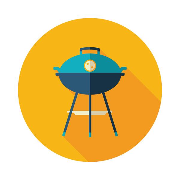 barbecue round icon