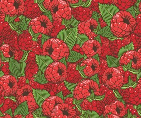 berry seamless hand drawn vector