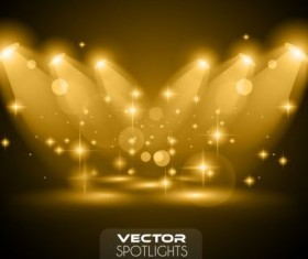 brown spotlights glowing vector background 01