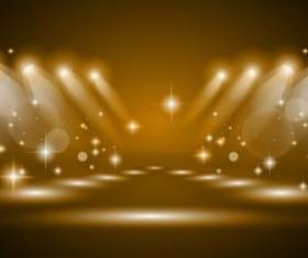 brown spotlights glowing vector background 02