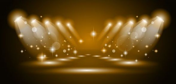 brown spotlights glowing vector background 02