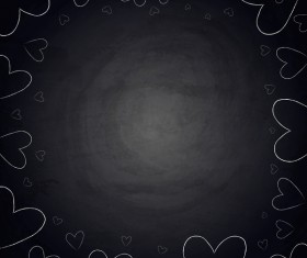 chalkboard background with heart frame vector
