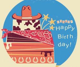 cowboy happy birthday symbol vector