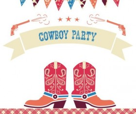 cowboy party background vector