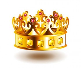 crown with patterns vector