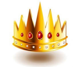 crown with sharp teeth isolated vector