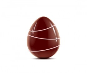 decorated chocolate egg vector