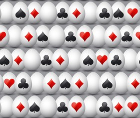 easter egg with poker sign pattern vector 02
