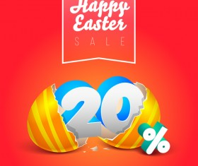 easter eggs with discounts background template vector 02
