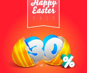easter eggs with discounts background template vector 03