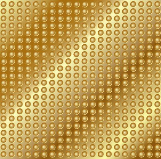 golden metal pattern background vector