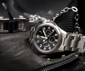 high-level automatic watch on a jacket HD picture