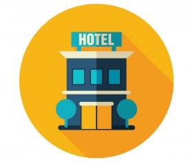 hotel flat icon vector