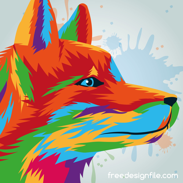 hound hand drawn watercolor vector