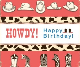 howdy card text vector 01