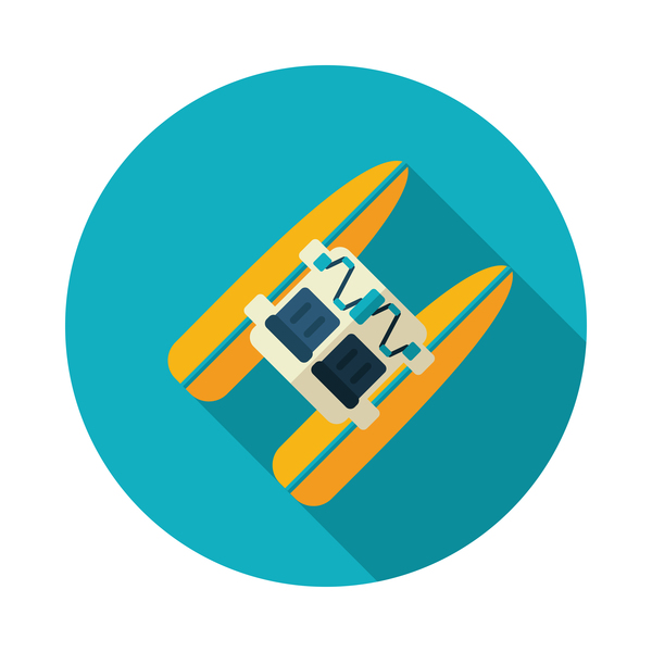 kayak vector icon