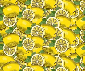 lemon seamless hand drawn vector