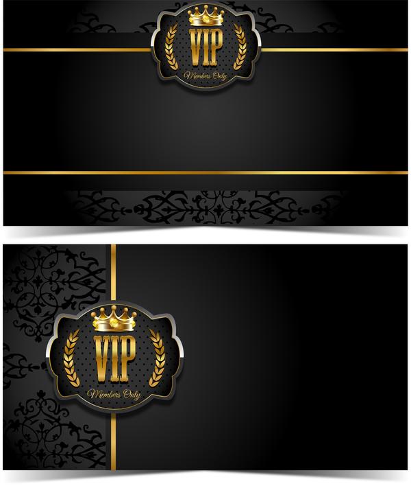 Luxury VIP Card Template Vectors Set 01