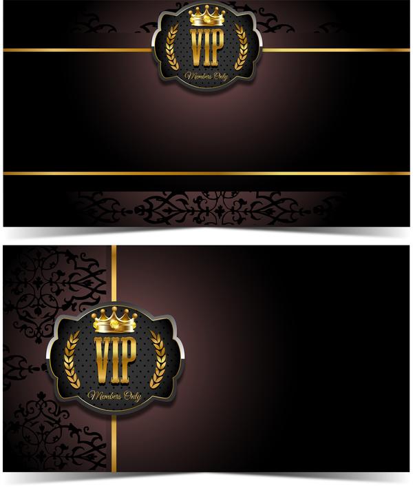 luxury VIP card template vectors set 02