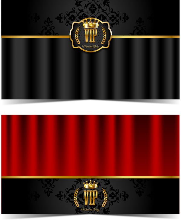 luxury VIP card template vectors set 03