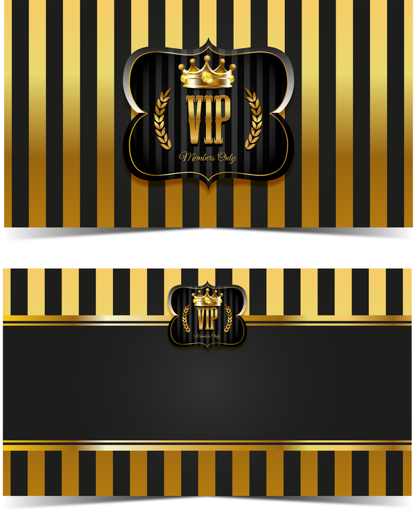 luxury VIP card template vectors set 04