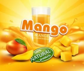 mango orange background vector 01