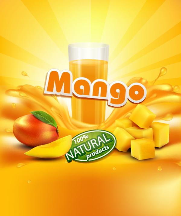 mango orange background vector 02