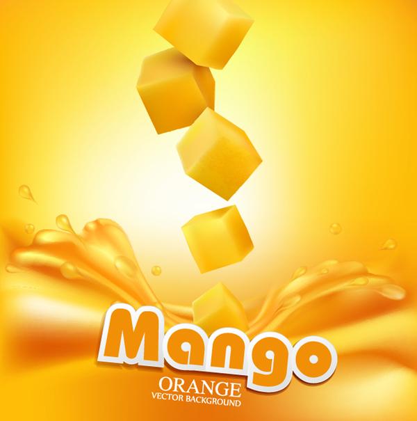 mango orange background vector 03