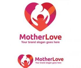 mother love logo design vector
