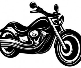 motorcycle silhouette design vector