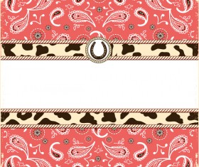 paisley pattern with card template vector