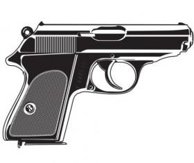 pistol illustration vector 02