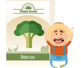 plant seed poster retro vector 11