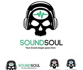 sound soul logo design vector