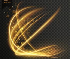 transparent golden light effect illustration vector 01