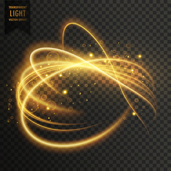 transparent golden light effect illustration vector 02