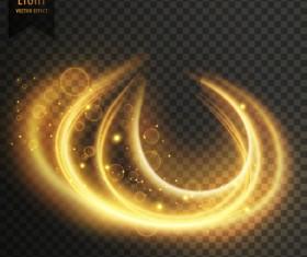transparent golden light effect illustration vector 03