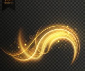 transparent golden light effect illustration vector 05