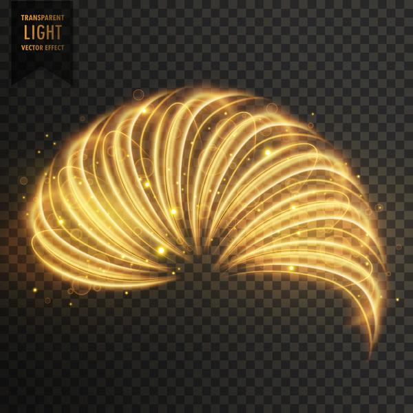 transparent golden light effect illustration vector 06