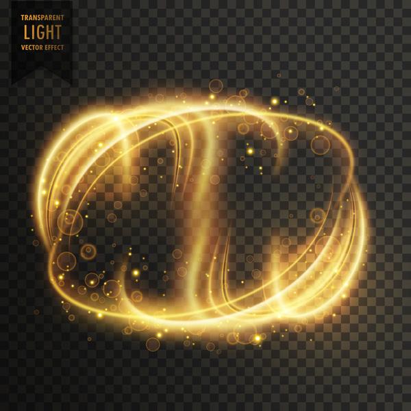 transparent golden light effect illustration vector 07