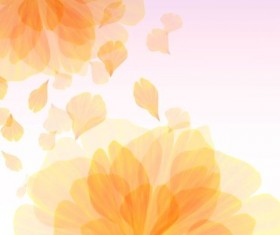 transparent yellow flower with petal vector