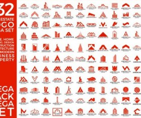132 Real estate logo mega set