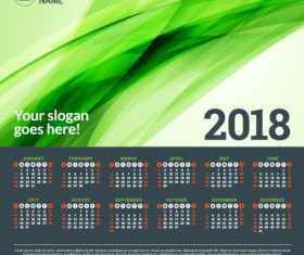2018 business calendar template vectors 03