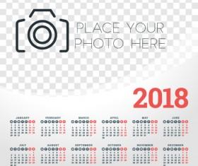 2018 business calendar template vectors 05